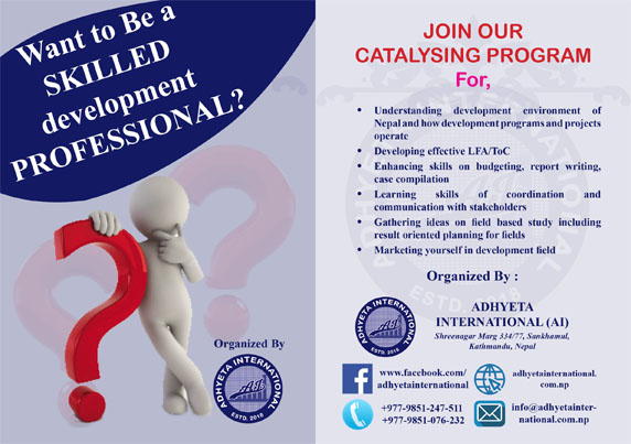 Adhyeta International Announces The Course on Becoming a Development Catalyst